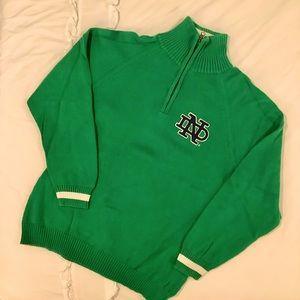 Norte Dame 47 brand green medium sweater zip up